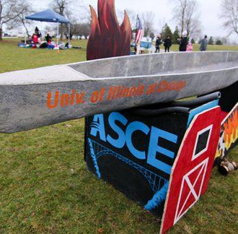 UIC's concrete canoe