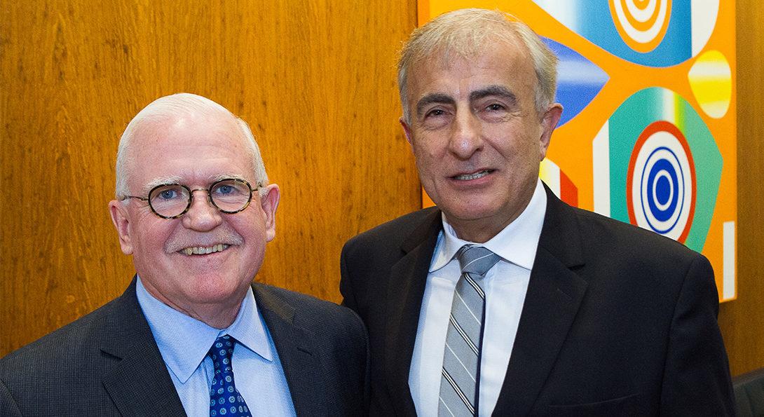 Christopher Burke and Dr. Ansari