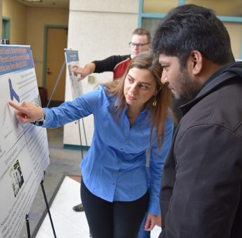 CME students observe posters