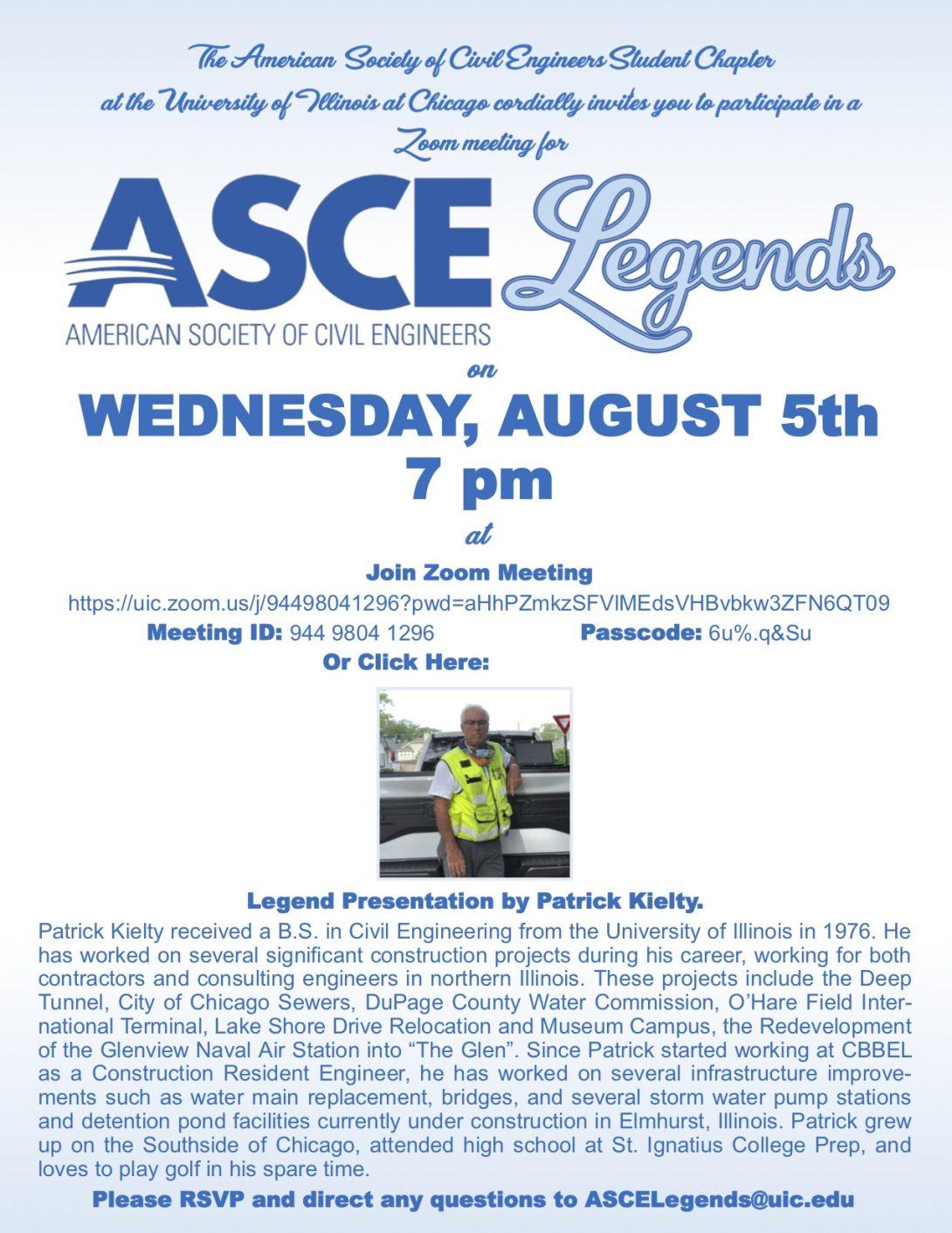 UIC hosting ASCE Legends