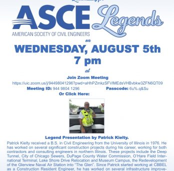 UIC hosting ASCE Legends meeting
